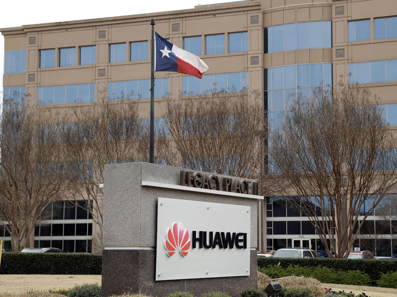 The Huawei Technologies Ltd. business location in Plano, Texas. Trump's executive order does not name Huawei, but it appears to be directed at the Chinese telecom manufacturer.
