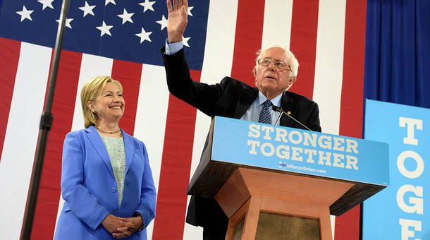 Sanders supports Clinton in battle for the White House