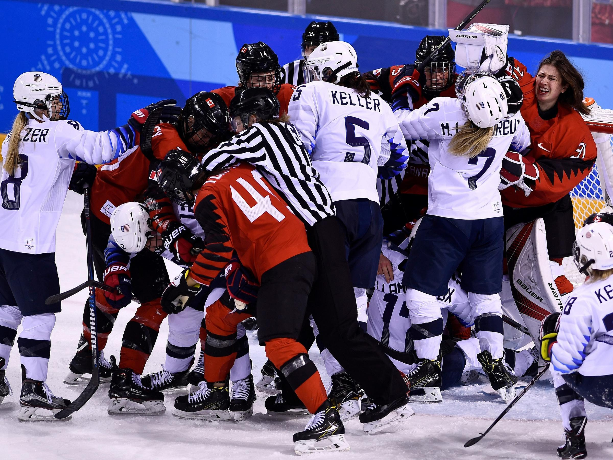Gold Medal Battle Royal Awaits US, Canadian Women in Hockey