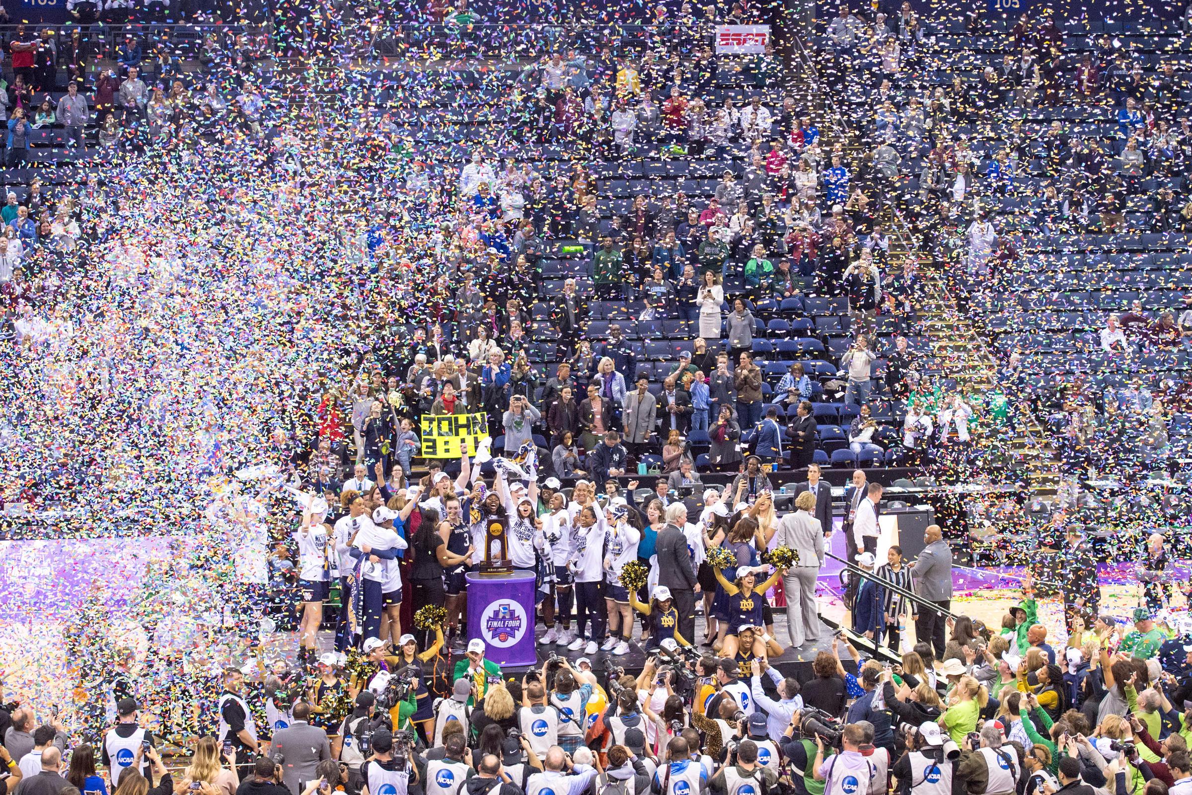 ND Women's Basketball Take First Championship Since 2001