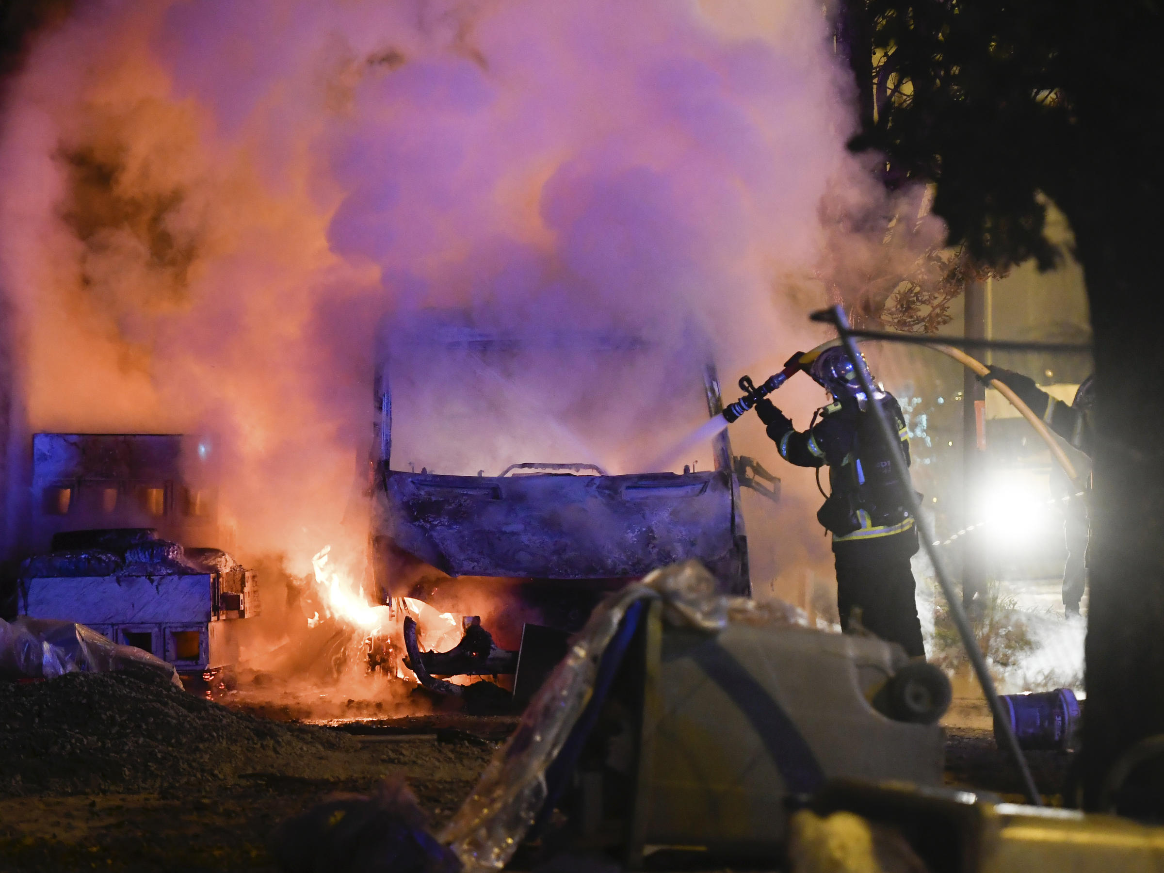 nights of unrest  torched cars  after fatal shooting by police in nantes  france