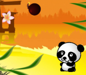 A screenshot from kid-designed game PaCatch the Bamboo.