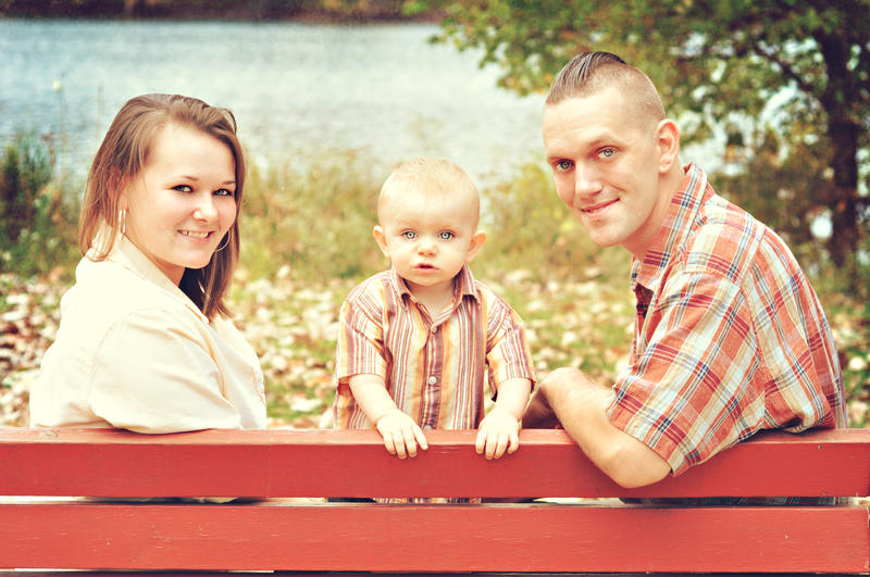 Melissa and Jeffrey Rice, with their son Andreux.