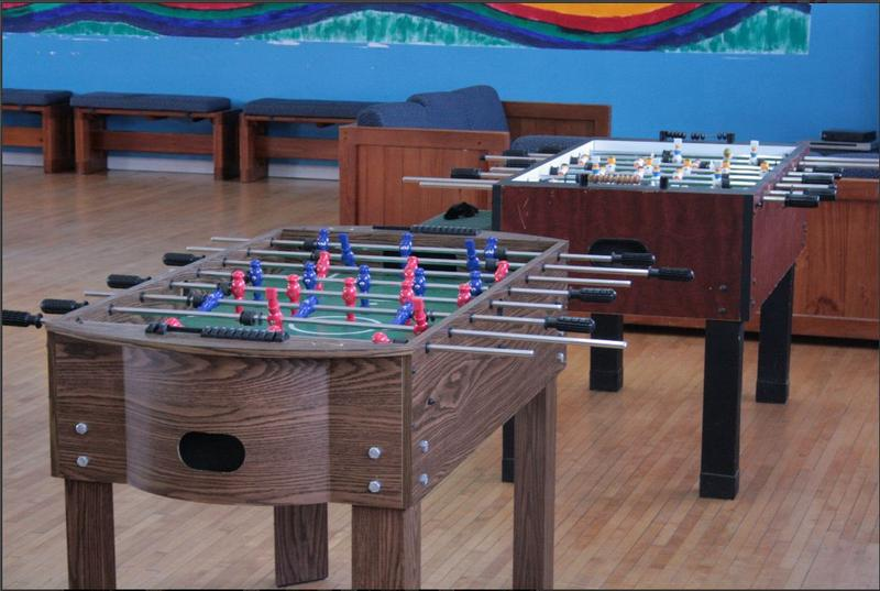 Games for young people at the Ruth Ellis Center, a place for homeless youth.