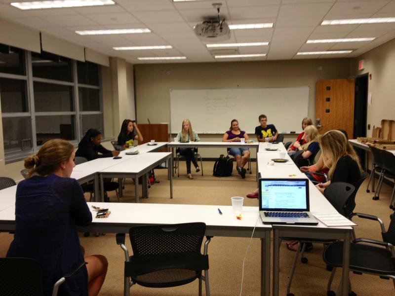 students at the First-Gens kickoff meeting