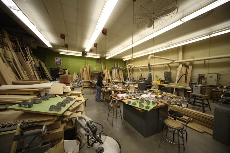 One of Duane Watson's shops, where he teaches construction and alternative energy technology.