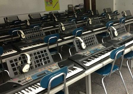 Students at Pierce Elementary can hone their keyboard skills during music class
