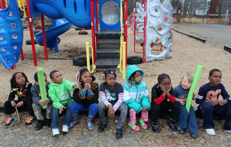 Kindergartners at the James and Grace Lee Boggs School in Detroit.