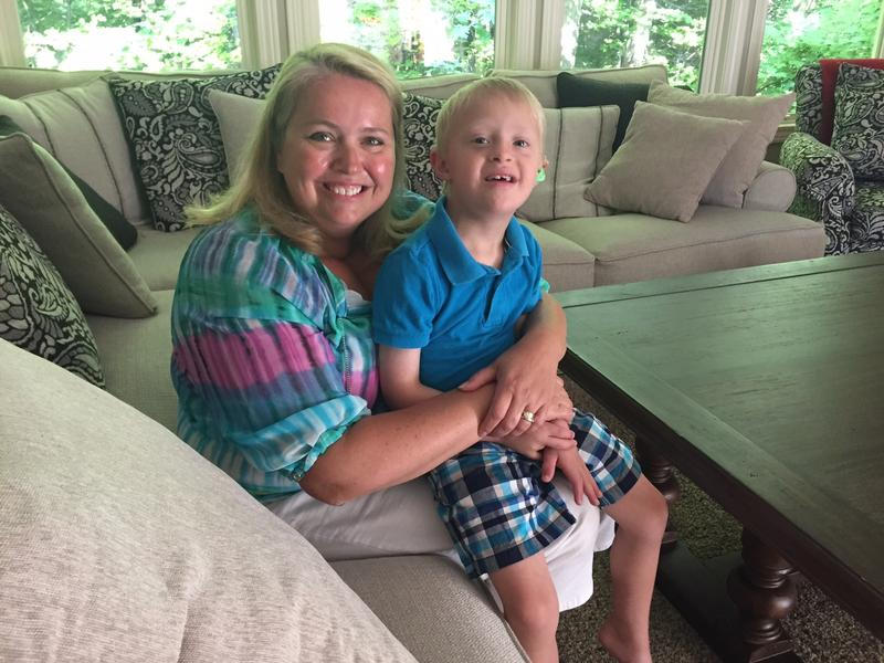 Lisa Kocab with her son PJ, who has down syndrome