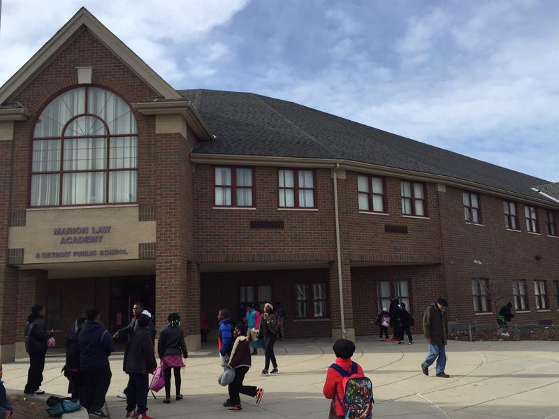 A picture of Law Elementary, one of 38 schools in Michigan slated for possible closure.