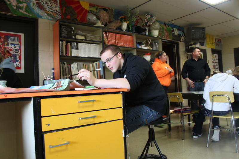 A student at work in one of Stockbridge's technical classes.