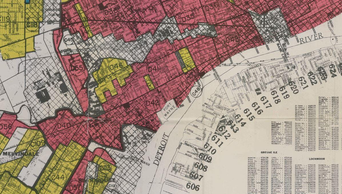 See the maps from the 1930s that explain racial segregation in