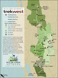 Map of the Trek West project