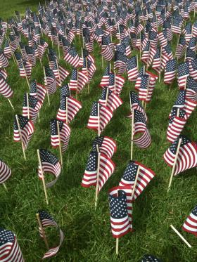 sept 11 flags victims remembered