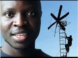 William Kamkwamba and one of his windmills