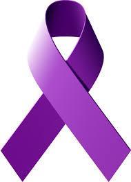 A purple ribbon