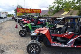 UTVs available for rent in Moab.