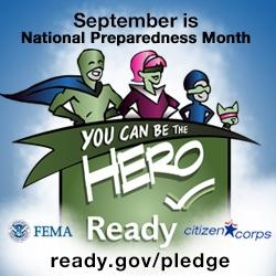 National Preparedness Month poster.
