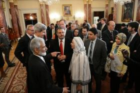 Secretary of State John Kerry introduces the Office Faith-based Community Initiatives on Aug. 7.