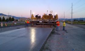UDOT crews work on the Tenth West project in Logan, Utah.
