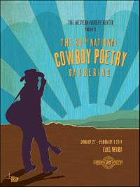 art poster of the Cowboy Poetry Gathering