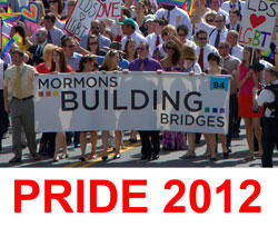 Mormons Building Bridges members marched in the 2012 Pride parade in Salt Lake City over the weekend.