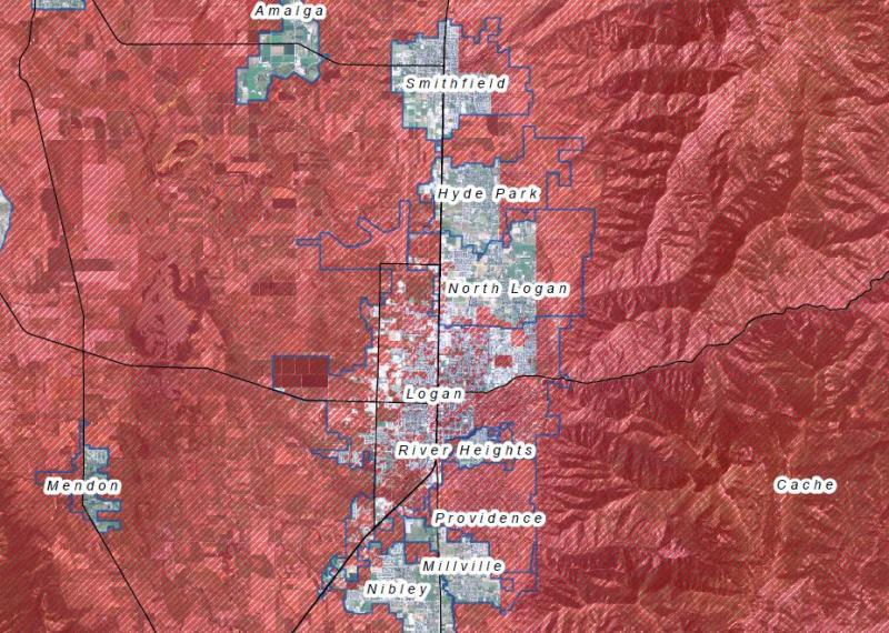 Firework restriction map from loganutah.org