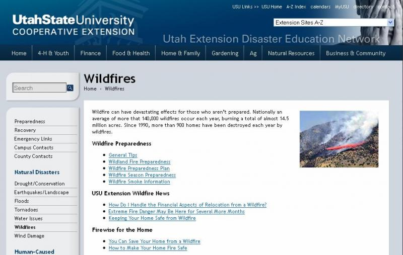 The new website from USU extension is Fire.USU.edu.