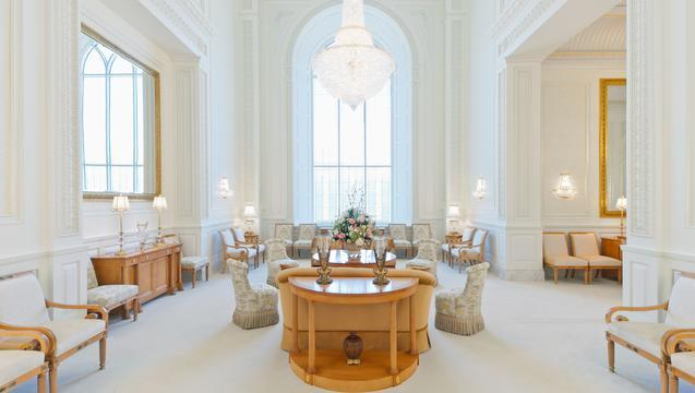 The Celestial Room inside the new Brigham City Temple.