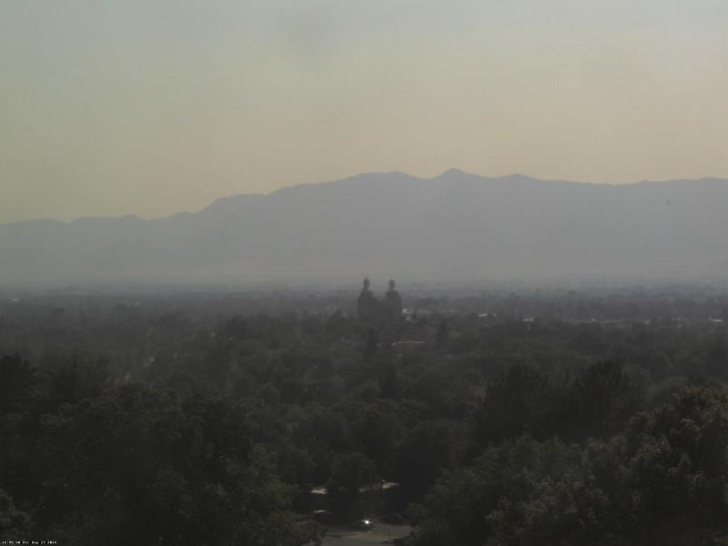From a Utah State University webcam, taken Friday August 17 at 4:00 PM.