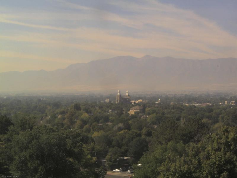 The air quality taken from the Utah State Webcam Sept. 19, 2012