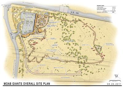 Site plan for the new Moab zipline park