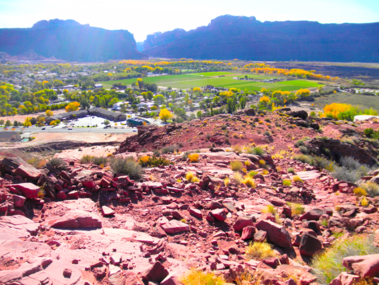 The views from up top -- starting place for the new Moab zipline