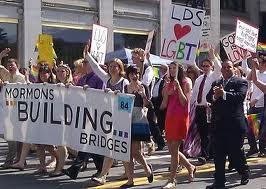 Members of the group Mormons Building Bridges marching in the 2012 Utah Pride Parade