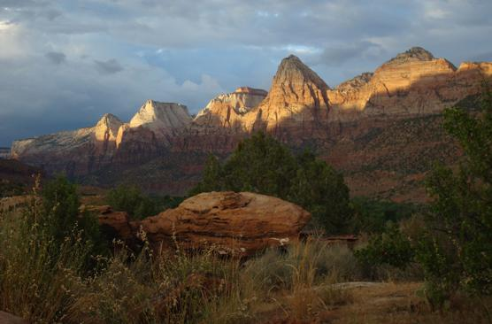 View of Zion National Park.