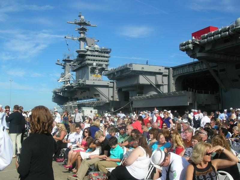 A crowd of 6,000 gathered for the commissioning ceremony of the U.S.S. Minnesota.