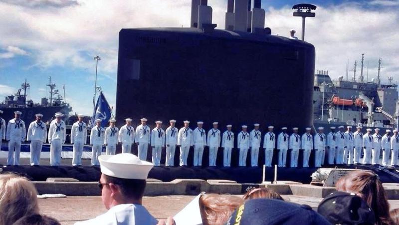 The crew of the U.S.S. Minnesota on the vessel.