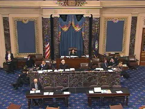 The U.S. Senate debates the proposed government spending bill Sept. 27.