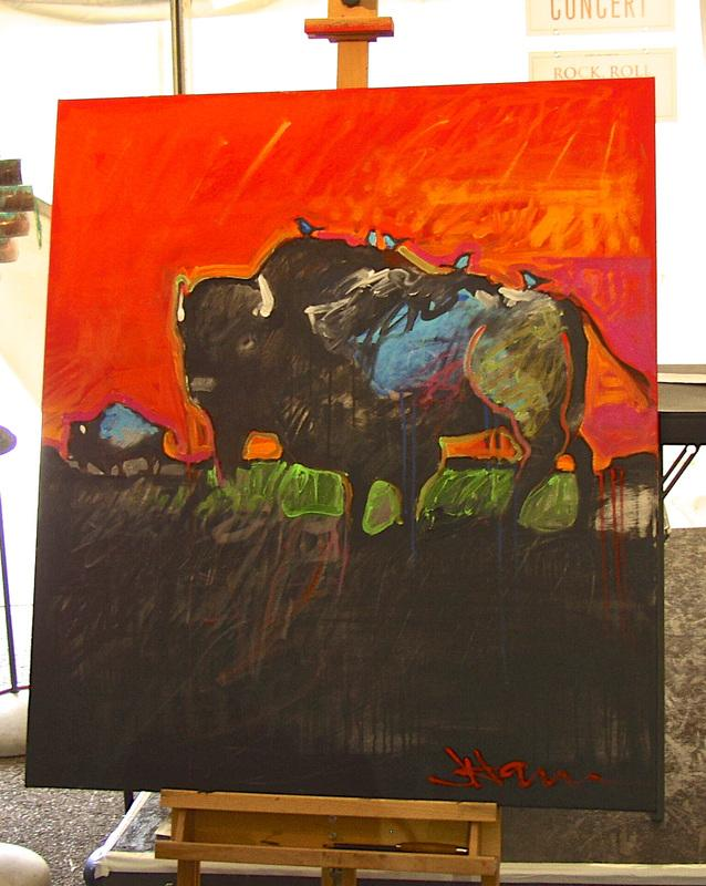 Jeff Ham's piece from the quick draw competition at the Kayenta Arts Festival, 2012.
