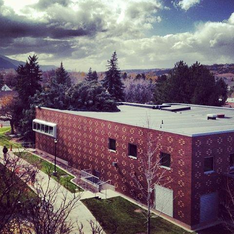 A tree fell onto South Hall during a wind storm on Southern Utah University campus Monday.