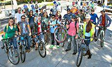Utah State University placed first among Universities in the National Bike Challenge.