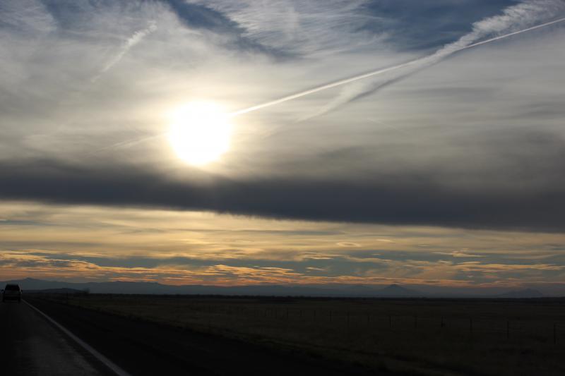sunset, sun