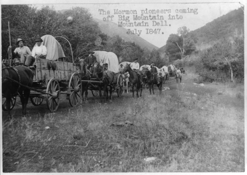 Mormon pioneers enter the Salt Lake Valley.