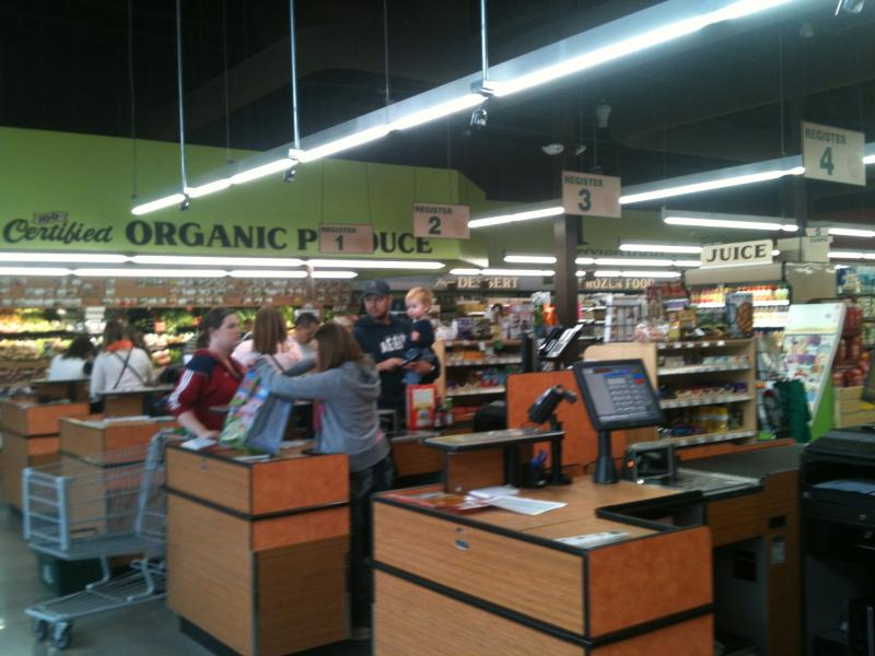 organic food store checkout