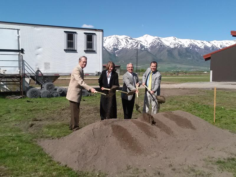 USU officials broke ground for classrooms Tuesday morning. The building completes a set of three buildings aimed to help students apply their learning.