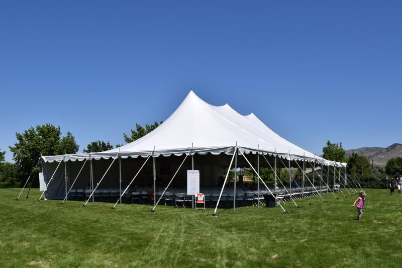 The main tent at the festival.