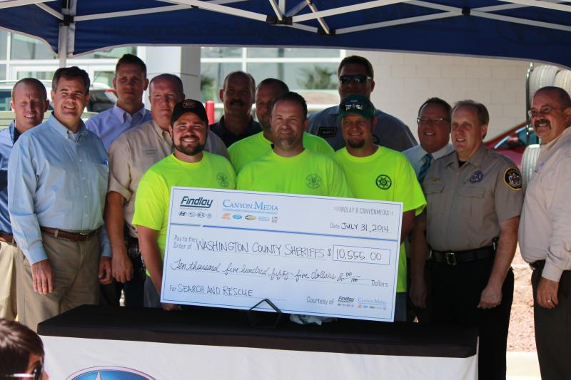 Washing County Search and Rescue Team accepts $10,500 donation.