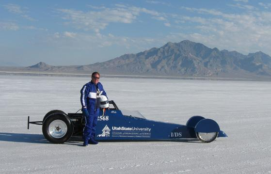 Michael R. Morgan racing in 2012 with the 'Aggie A-Salt' dragster.