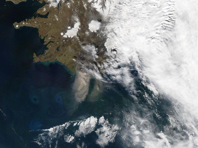 When Eyjafjallajökull erupted in 2010, air travel in Europe was delayed for weeks and windblown ash could be seen from space.