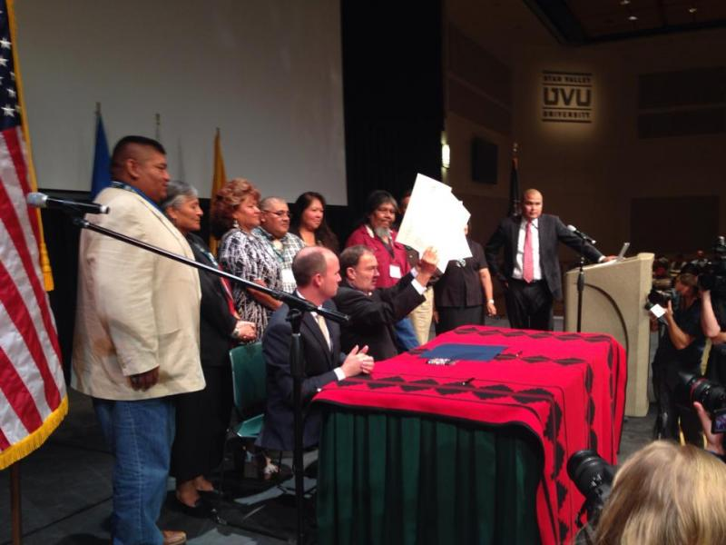 Gov. Herbert signs executive order at ninth annual Native American summit.